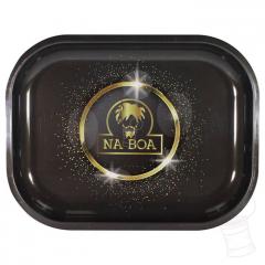BANDEJA METAL NA BOA PEQUENA BLACK GOLD