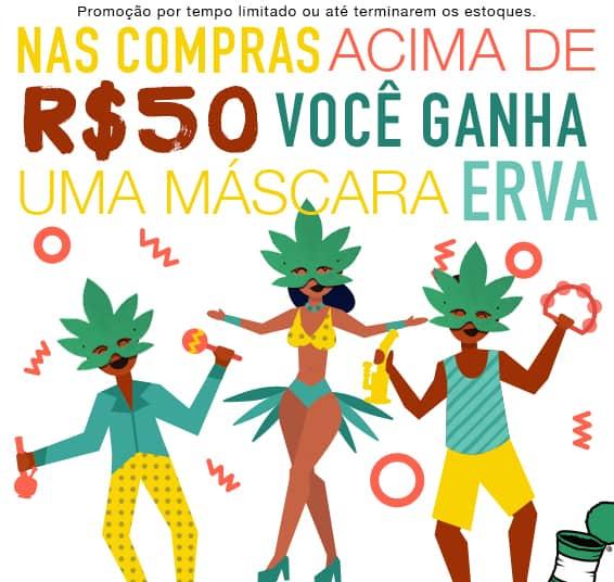 50 reais em comprar vale um mascara